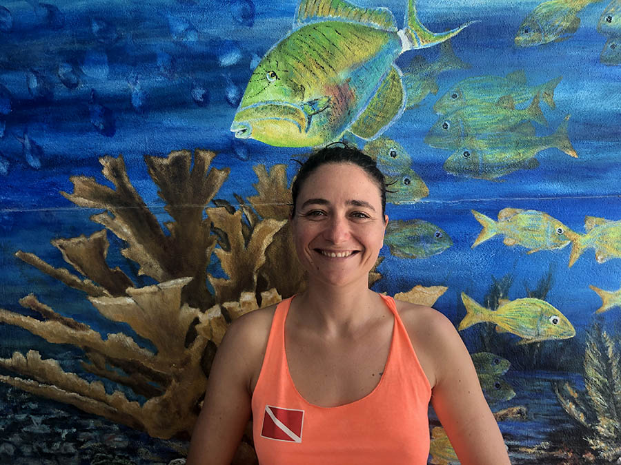Scuba Diving and Snorkeling in Puerto Morelos - Our dive master and Photographer