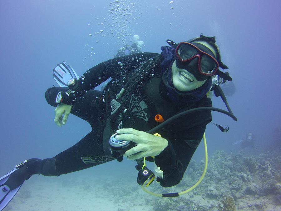 Diver Om delfin Puerto Morelos